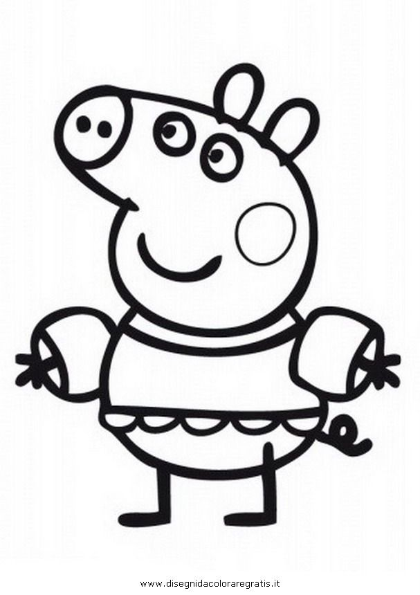 27 best peppa pig disegni da colorare images on pinterest
