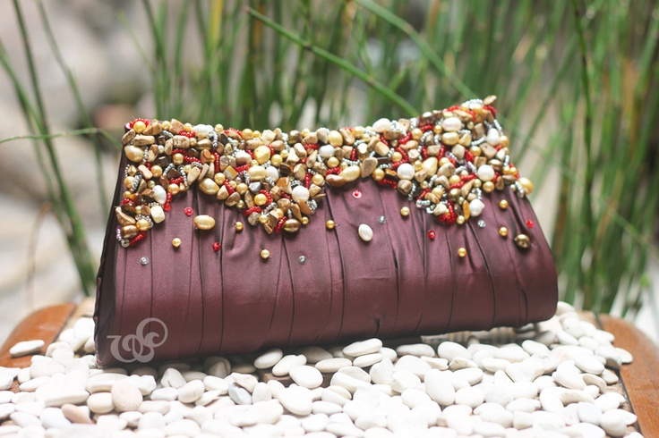 Allure #clutchbag, 25x13cm, a combination of fresh water pearls-stones-crystals-japan beads
