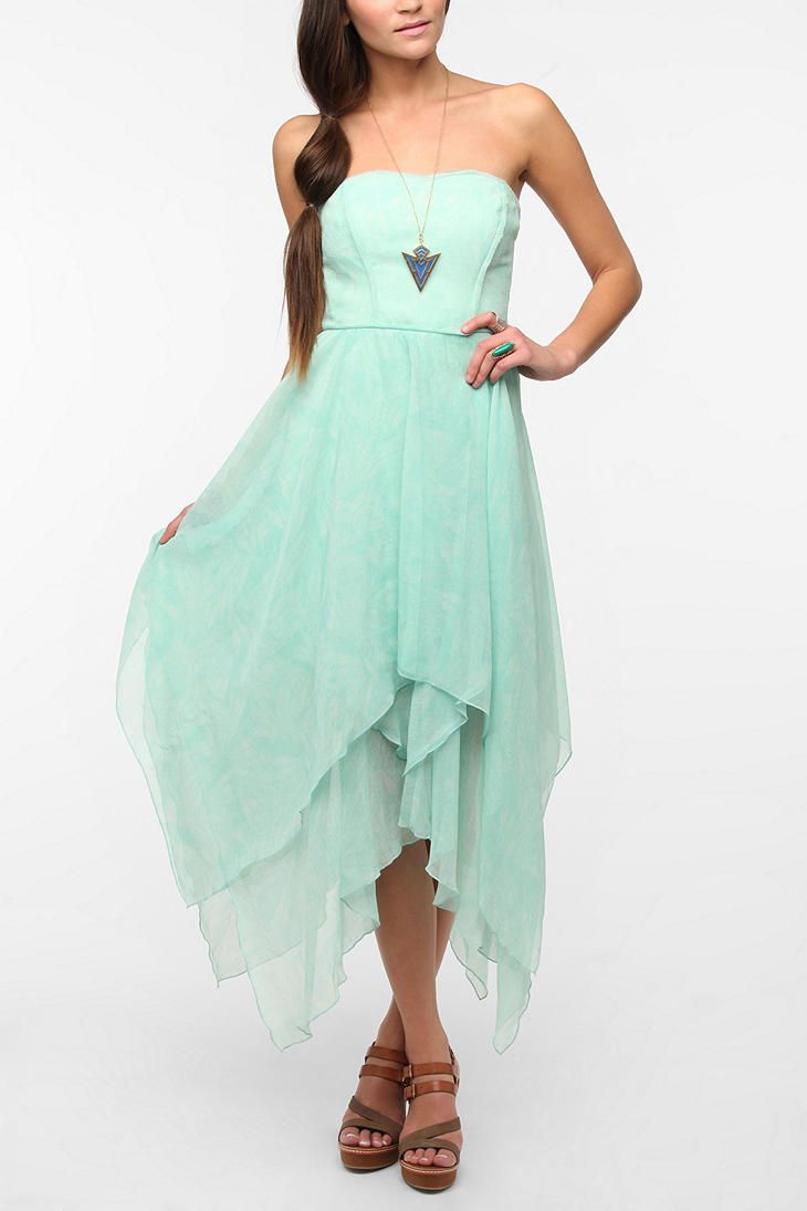 Ecote Mary Kate Strapless Chiffon Dress
