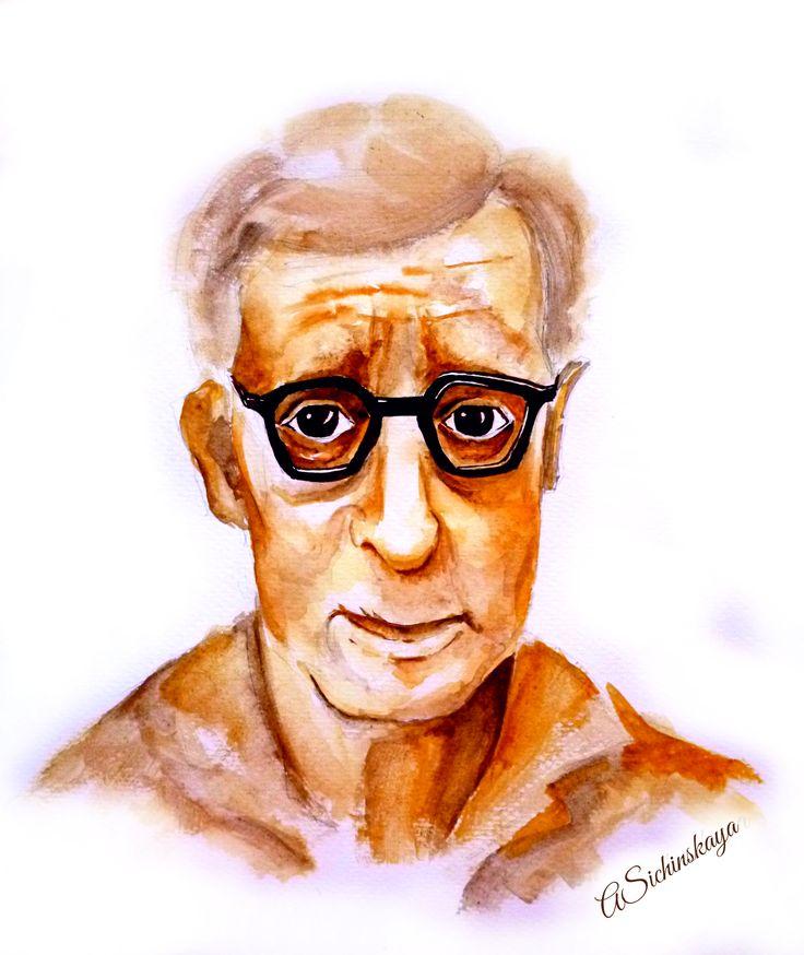 Woody Allen (29x42, watercolor)