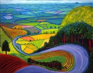 David Hockney Garrowby Hill in Yorkshire - another print I have.
