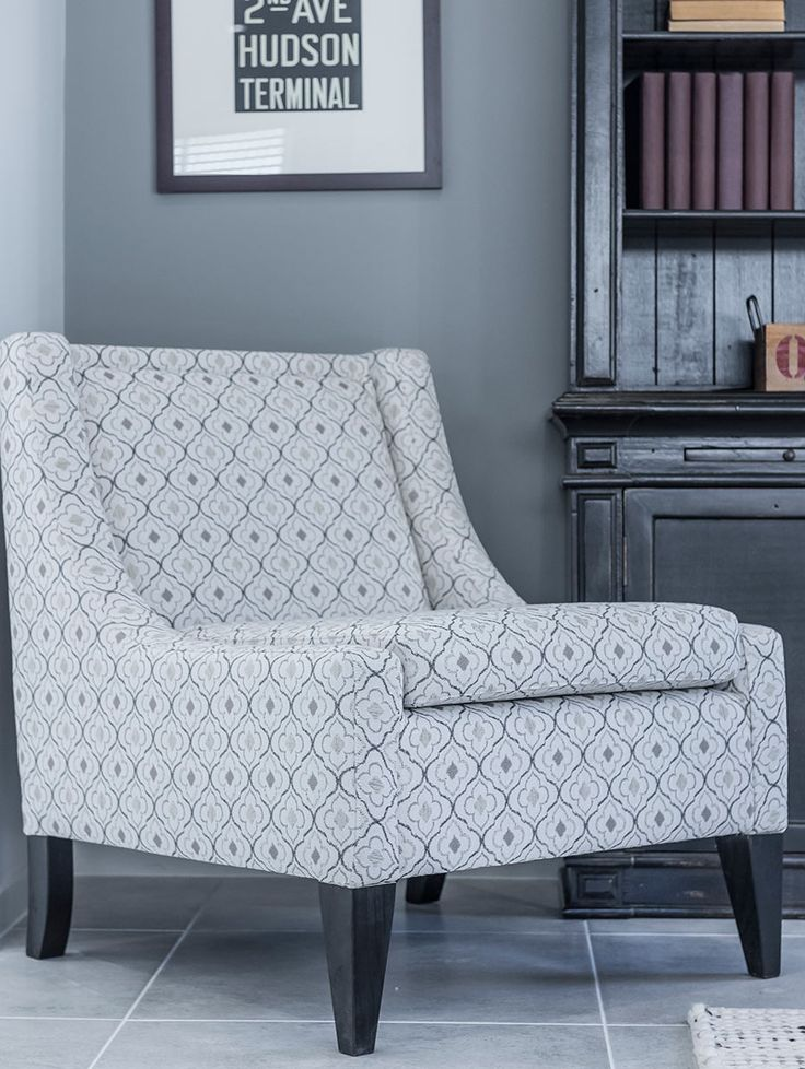 This #grey and off #white #statement #chair can be found at #Ausbuild's Ellison Display Home.