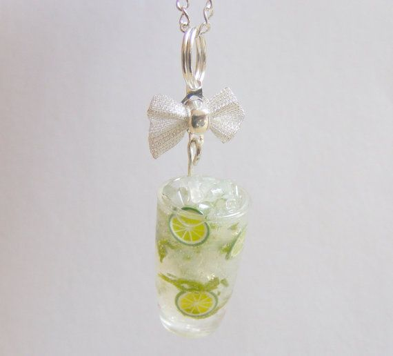Mojito Cocktail Miniature Food Necklace Pendant  by NeatEats, £11.99