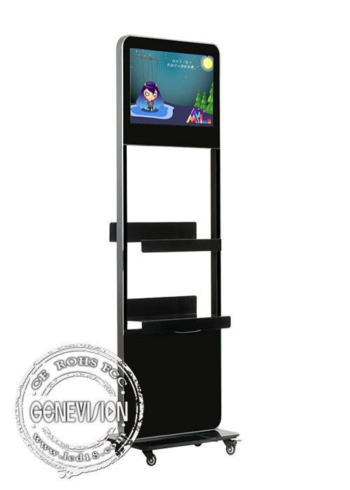 24 Inch floor stand lcd Kiosk Digital Signage metal case , hd signage display boards player