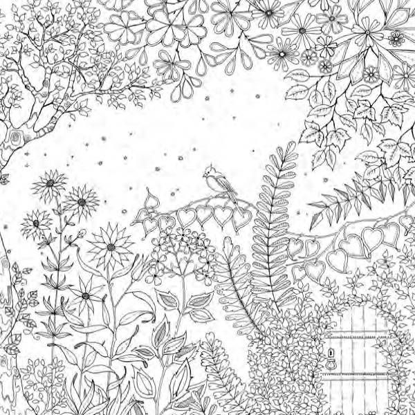 Imagem livro Jardim secreto  Jardim secreto floresta encantada