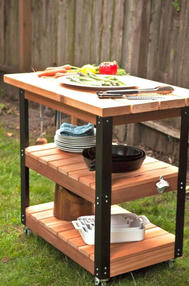 Chariot De Bricolage Roulant Grill Et Barbecue 20 Stations