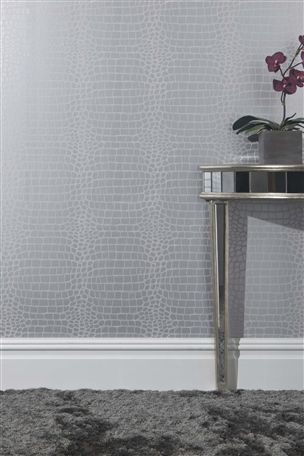Buy Croc Silver Wallpaper Sample from the Next UK online shop
