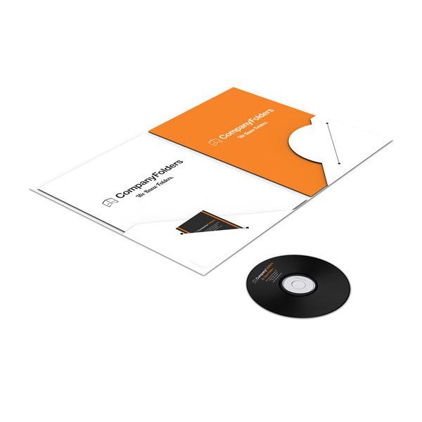 die cut dvd pocket | A4 Custom Pocket Presentation Folder Mockup (Flat View)
