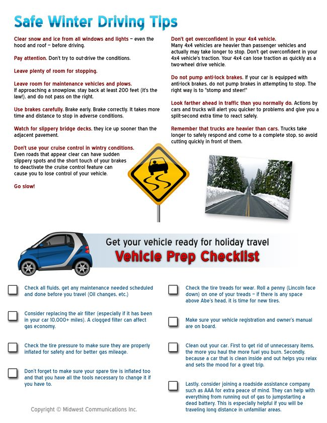 Winter Driving Safety Tips From Midwest Communications