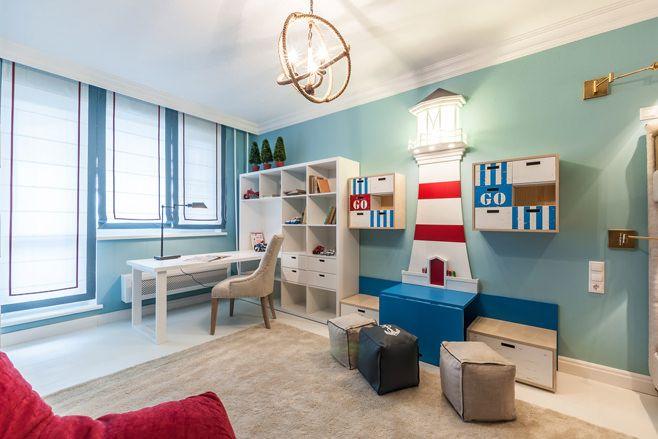Оригинальный «морской» интерьер комнаты для мальчиков