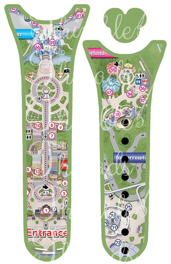 Magic Park Map Magic Band 2.0 Cover Skin by ThimbleThreadsDotCom