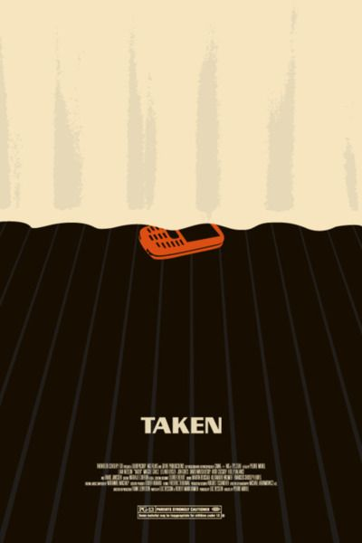 Taken minimalist movie poster