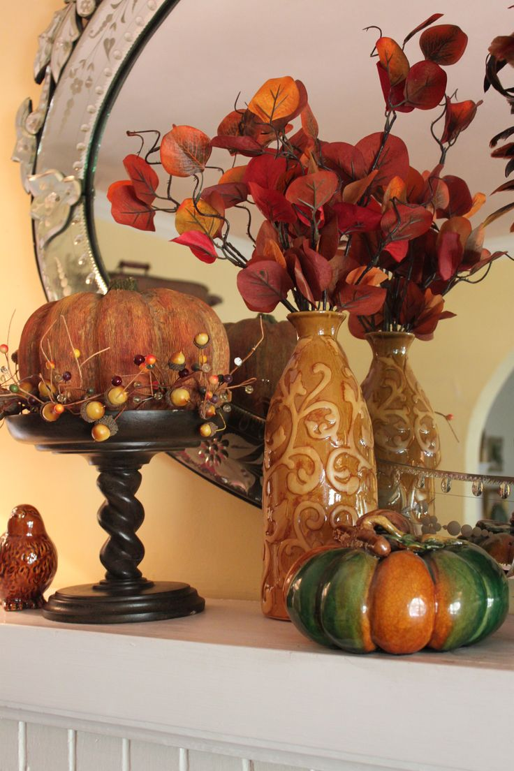 Top 100 mantel decorating ideas for thanksgiving image - Find This Pin And More On Holiday Fun Thanksgiving