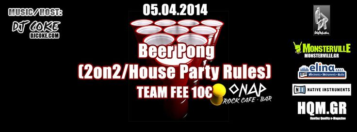 Beer Pong (2on2/House Party Rules) @ ΟΝΑΡ Rock Cafe/Bar (Αθήνα) -   More: http://on.hqm.gr/5m