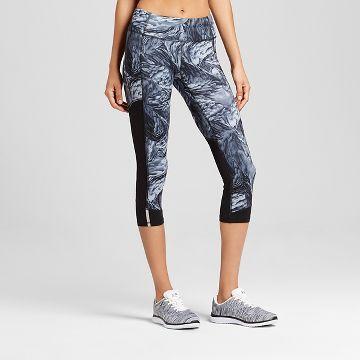 Women's Run Capri - Dark Gray/Tonal Feather Swirl Print - C9 Champion®