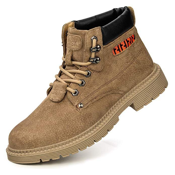 Leather shoes men, Steel toe boots