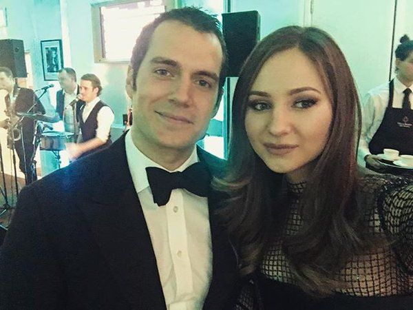 """Incredibly nice and humble guy. I'm a fan."" Maria's moment with Henry Cavill http://bit.ly/1Xo4rRE  #BAFTA #London"