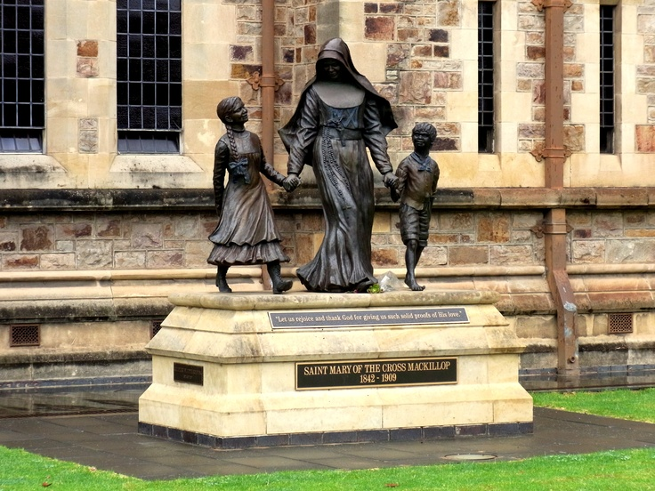 Statue outside St. Francis Xavier Cathedral, Adelaide • Adelaide's churches