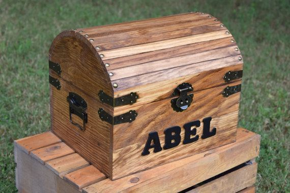 Kids Treasure Box Wooden Chest Keepsake Box by CountryBarnBabe