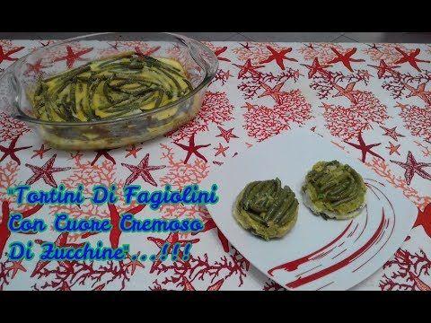 """""""Tortini Di Fagiolini Con Cuore❤️ Cremoso Di Zucchine""""...!!! Trovate il #video sul mio canale #youtube vi aspetto ;-)) #tortini #tortino #flan #sformato #sformatini #sformati #ricette #ricetta #food #antipasti #antipastini #antipasto #verdure #fagiolini #zucchine #uova #formaggio"""