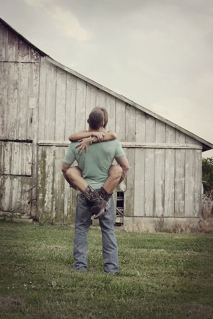 Rustic engagement photo. @Brendan Lehman  I could wear my favorite ankle boots!!!