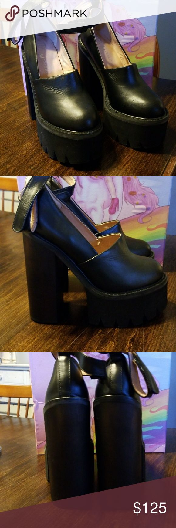 Jeffrey Campbell shoes New in Box never worn Jeffrey Campbell high heel platform Havana   Shoes Jeffrey Campbell Shoes Platforms