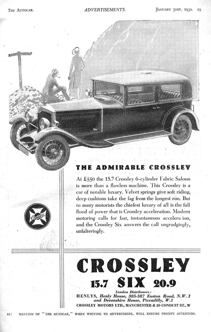 15 best Crossley images on Pinterest | Br car, British car and Old ...