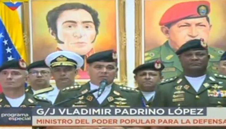 Padrino López: No nos intimidarán con sanciones de ninguna índole -  El ministro para la de Defensa, Vladimir Padrino López, rechazó este sábado 6 de enero, junto a miembros de la Fuerza Armada Nacional Bolivariana (Fanb) las sanciones promovidas el viernes 5, por el Departamento de Estado de Estados Unidos contraRodolfo Marco Torres, Francisco Rangel Gómez, Fab... - https://notiespartano.com/2018/01/06/padrino-lopez-no-nos-intimidaran-sanciones-ninguna-indole/