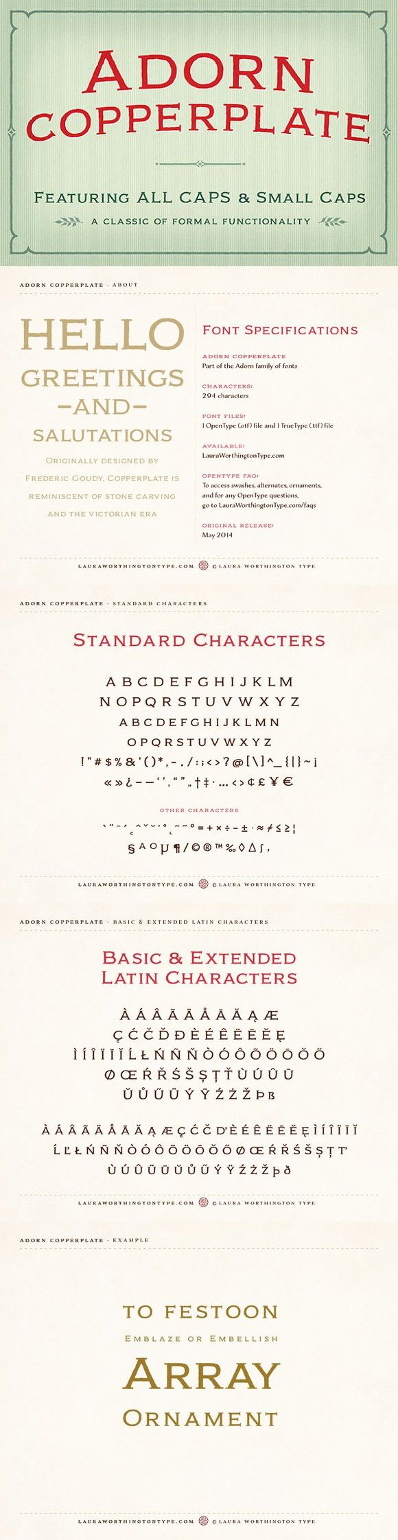 Adorn Copperplate. Display Fonts. $20.00