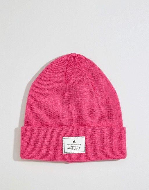 ASOS | Gorro rosa con diseño a parches de ASOS