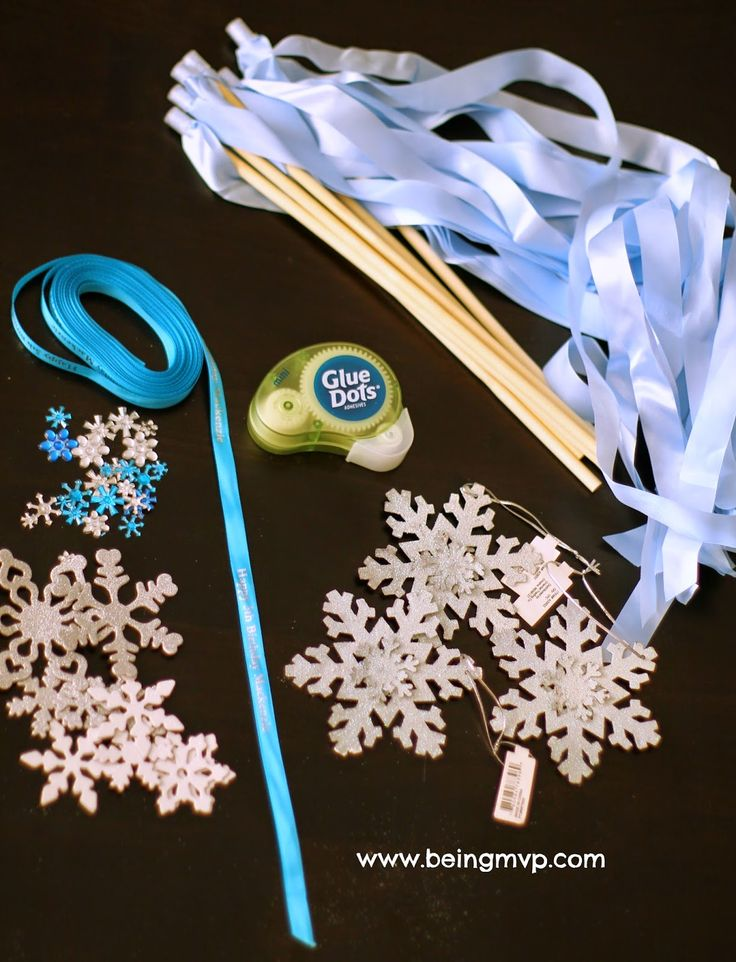 "being MVP: DIY ""Frozen"" Elsa Magic Wands | Frozen Birthday Party Favor #FunCraftsWithMom"
