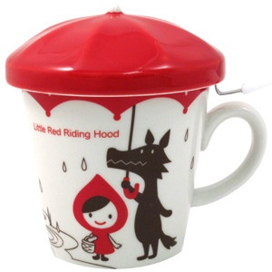 Little Red Riding Hood cup with tea diffuser by Decole Otogicco