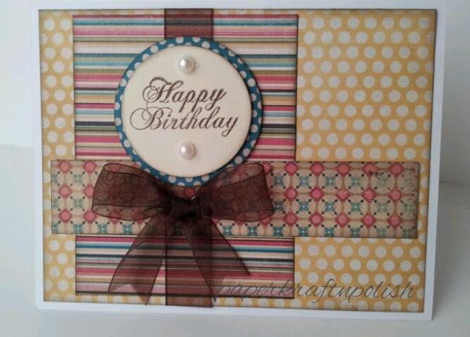 Quick and simple B'day cardPattern Paper, Paper Layered, Bday Cards, Simple B Day, Cards Crafts, B Day Cards, Diy Crafty