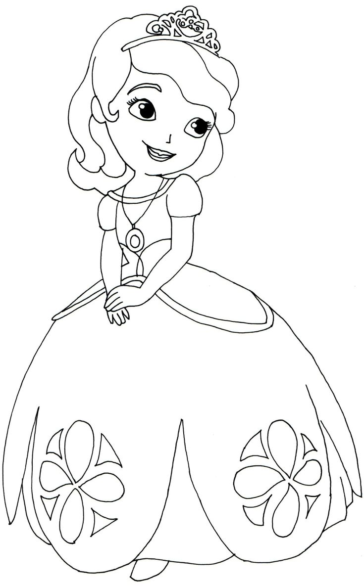 Princess hildegard coloring pages - Sofia First Coloring Pages Cartoon Wallpapers