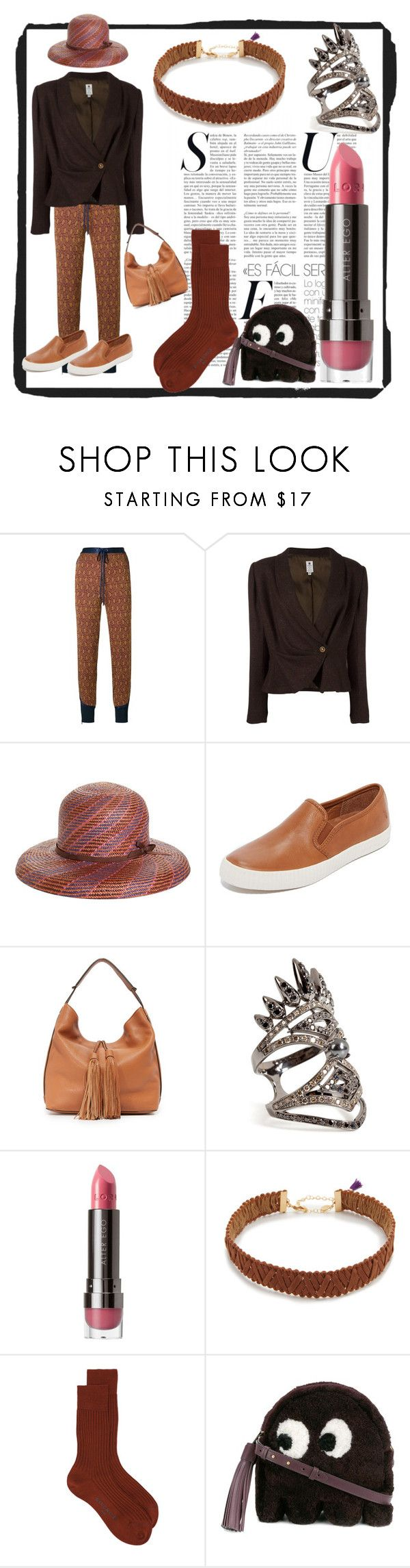 """""""set for alert"""" by denisee-denisee ❤ liked on Polyvore featuring 3.1 Phillip Lim, Emanuel Ungaro, Brooks Brothers, Frye, Rebecca Minkoff, Nikos Koulis, LORAC, Shashi, Givenchy and Anya Hindmarch"""