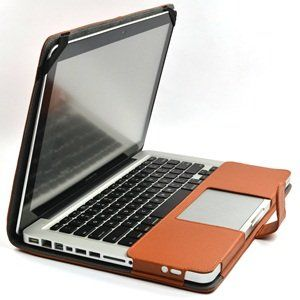 Amazon.com : Cosmos Brown Color Leather Skin Case Cover for Apple Macbook Pro 13-13.3-Inch + Cosmos Cable Tie : Computers & Accessories