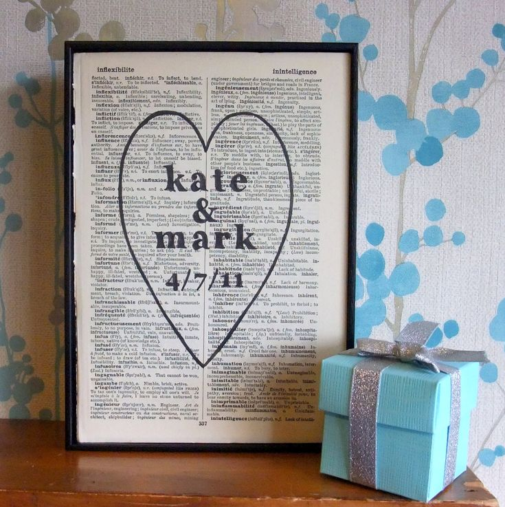 143 best wedding gift ideas images on pinterest good ideas personalized wedding gift heart names and date on vintage book page 2575 via negle Gallery
