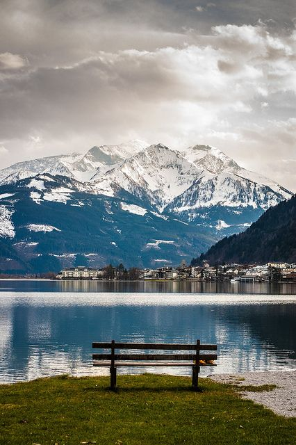 Lake view at Kaprun, Zell am See, Salzburg, Austria. Can't believe I actually have seen this with my own eyes. Beautiful!