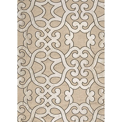 Amboise Linen Embroidery Greige Fabric by the Yard by Layla Grayce $234