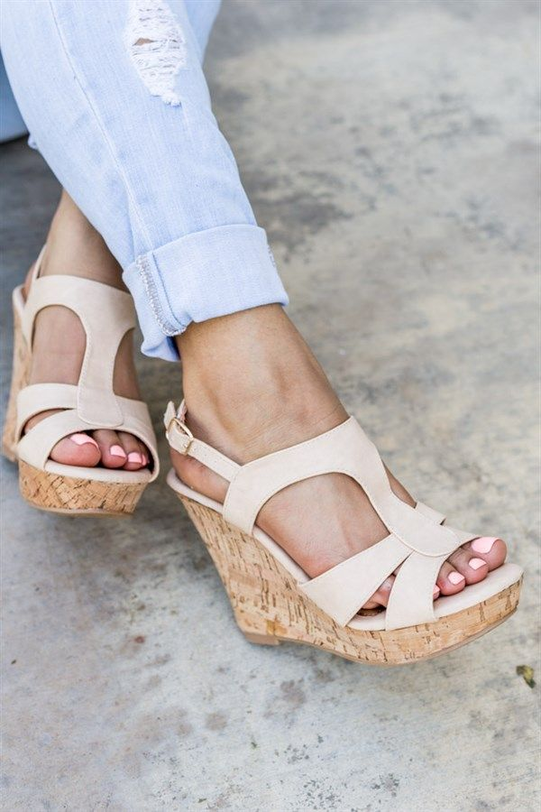 These wedges are absolutely GORGEOUS! They feature a stylish t-strap style with a really cute look.