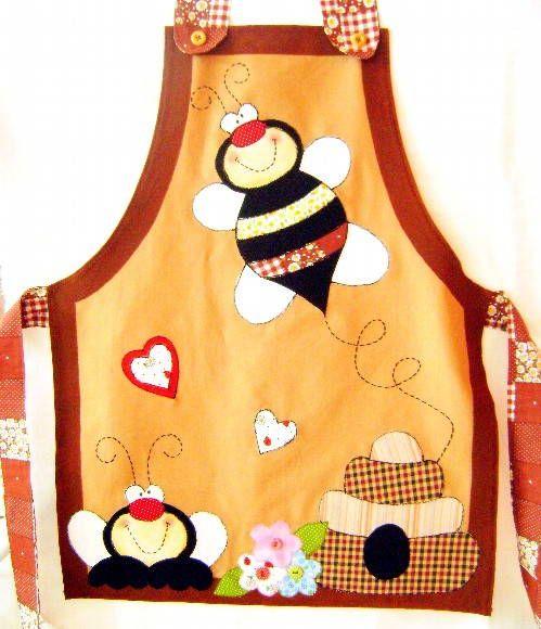 Avental abelhinha | Arte e Flor | Elo7