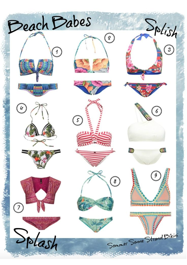 IT'S BEACH TIME :: DIE SCHÖNSTEN BIKINIS 2016 - Bikini // Inspo // Shopping // Mara Hoffman // KIINI // Emporio Armani // Seafolly // VIX // cute // sexy // coloful // triangle // bandeau // boho // summer // fashion // swimwear // trend