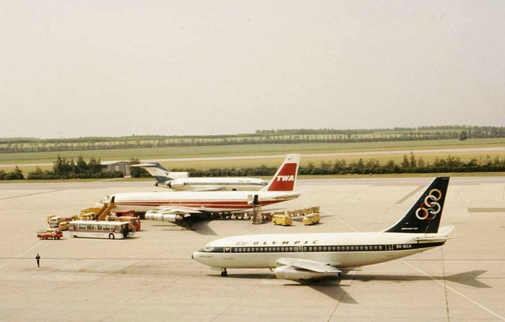 Vintage - Olympic Airways Boeing 737-200, TWA B707 & Iran Air B727