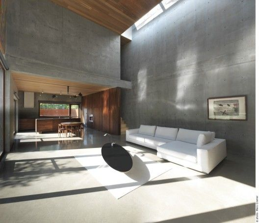 The Beaumont House / Henri Cleinge:  Montreal duplex with great light and materials pallet.