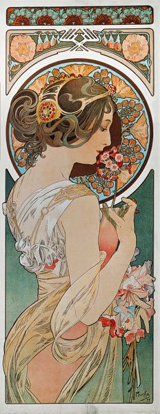 Alphonse Mucha - La Primevere,1899                                                                                                                                                     Plus