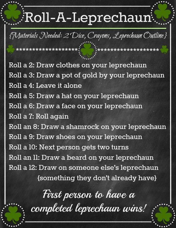 Roll-A-Leprechaun Game ~ Fun St. Patricks Day Activity! (she: Brooke) - oneshetwoshe.com