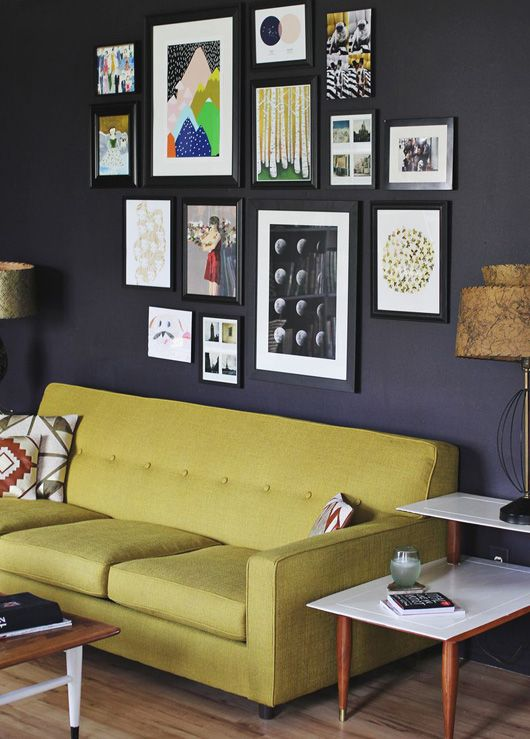 i am stealing so many of her home decor ideas tons of great ideas frames on wall painting one wall one color and two other colors on other wall