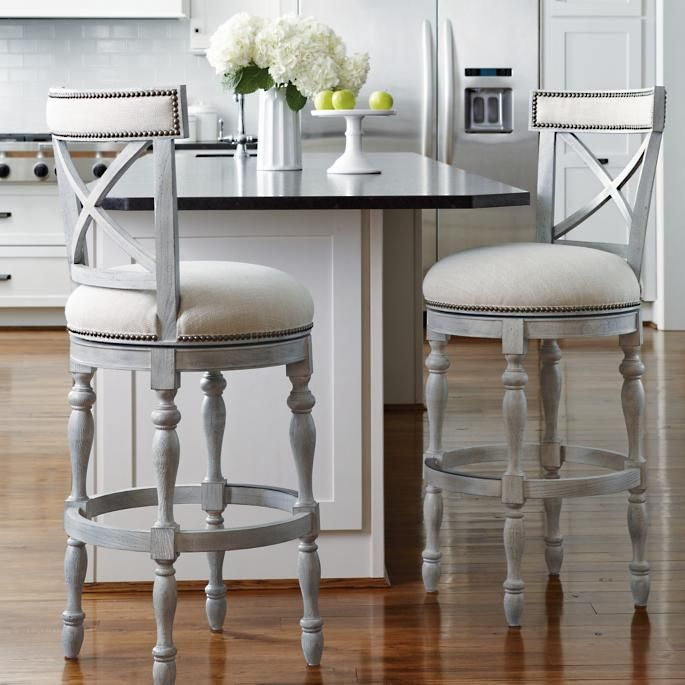 Griffith X Back Swivel Bar Height Bar Stool 30 H Seat Counter Stools Kitchen Bar Stools Bar Chairs