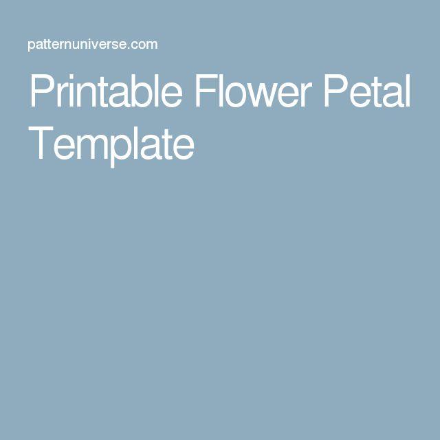 Flower Petal Template. Flower Petal Template Free Word Pdf Documents ...