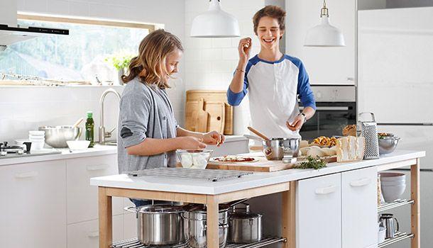 STENSTORP Kücheninsel, weiß, Eiche | IKEA Küchen - Liebe ... | {Ikea kücheninsel stenstorp 26}